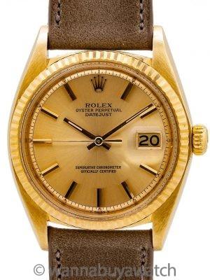 Rolex Datejust ref 1601 18K YG circa 1978
