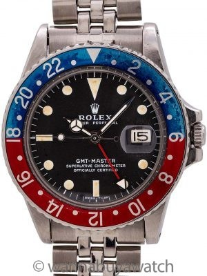 Rolex GMT ref# 1675 Stainless Steel circa 1970