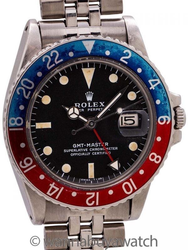 Rolex GMT ref# 1675 Stainless Steel circa 1970