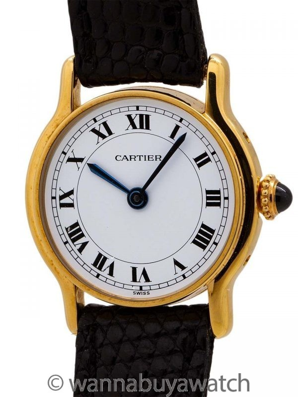 Louis Cartier Dress Watch 18K YG circa 1980's