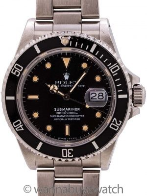 Rolex Submariner ref# 168000 Transitional Model circa 1986
