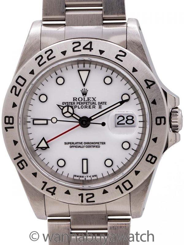 """Rolex Explorer II """"Tritium Polar"""" ref 16570 circa 1997"""