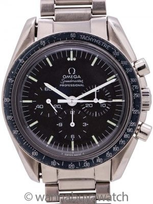 "Omega Speedmaster ""Straight Writing"" ref 145.022-69 Calibre 861 w/ Box circa 1973"