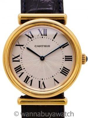 Cartier Vendome BiPlan Man's 18K YG circa 2000