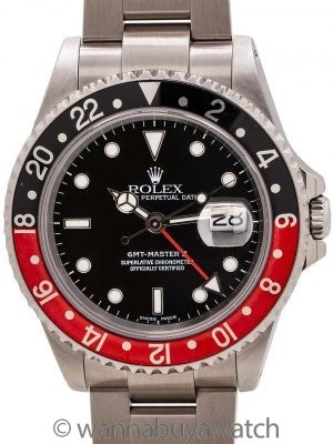 "Rolex GMT II ref 16710 ""Coke"" Stainless circa 2002"