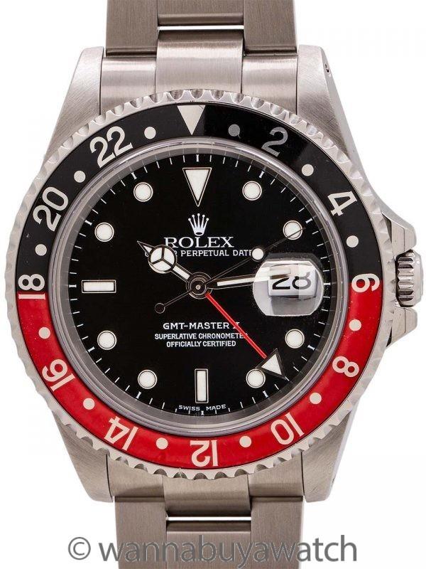 "Rolex GMT II ref 16710 ""Coke"" Stainless circa 2002"