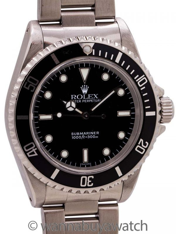"Rolex Submariner ref 14060 ""Swiss Only Dial"" Stainless Steel circa 1998"