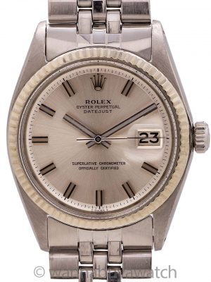 "Rolex Datejust ref 1601 SS/14K WG ""Fat Boy"" circa 1972"