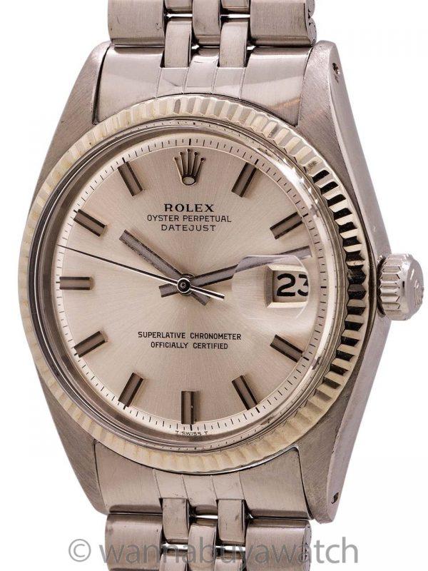 "Rolex Datejust ref 1601 SS/14K WG ""Fat Boy"" circa 1972"