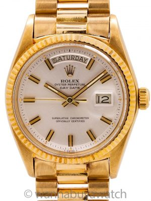 "Rolex 18K YG Day Date ref 1803 ""Fat Boy"" circa 1970"