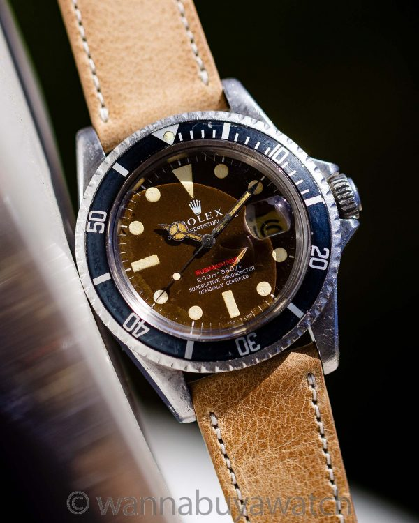 Rolex Tropical Red Submariner ref# 1680 Mark II circa 1969