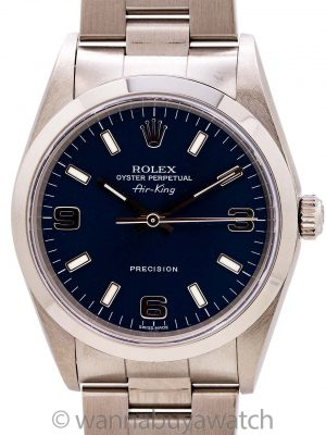 Rolex Air-King ref 14000M Blue Explorer Dial circa 2003