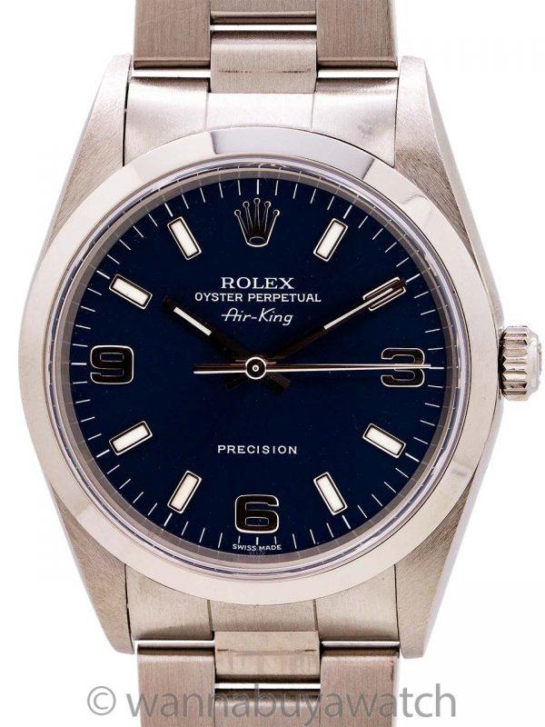 Rolex Air-King ref 14000M Blue Explorer Dial circa 2003
