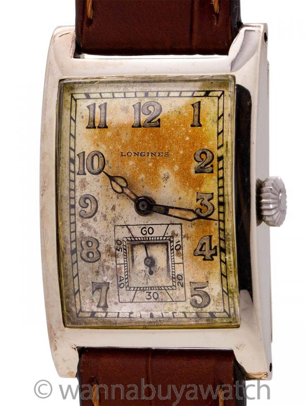 Classic Longines 14K WG Rectangle circa 1920's