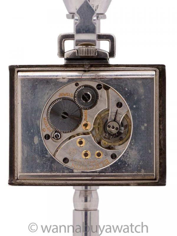 Swiss Sterling & Enamel Travel Watch circa 1930′ s