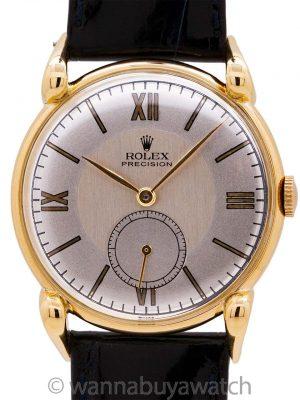 Rolex Precision 18K YG ref. 4332 circa 1940's