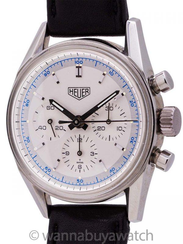 Heuer Carrera Classic 1964 Reissue Silver Dial circa 1990's