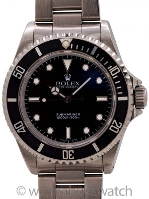 Rolex Submariner ref 14060 Stainless Steel circa 1993
