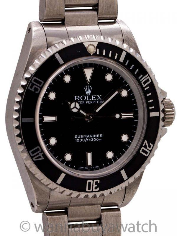 Rolex Submariner ref 14060 Stainless Steel circa 1993