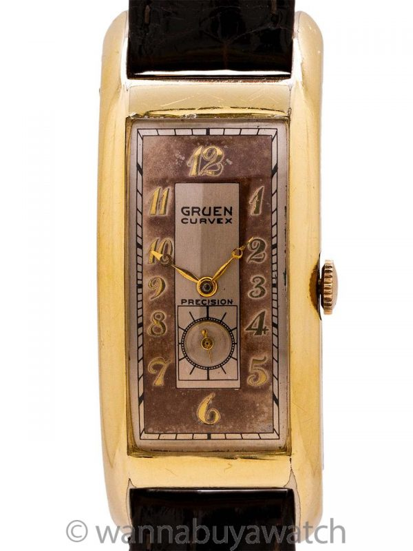 "Gruen Curvex YGF 52mm ""Majesty"" circa 1939"