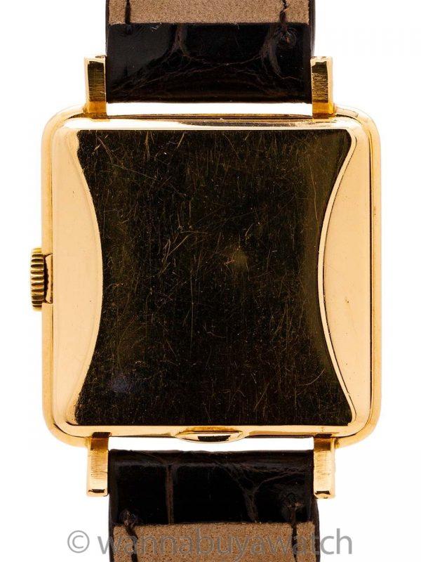 "Rolex Square ""Bubbleback"" 18K YG circa 1950"