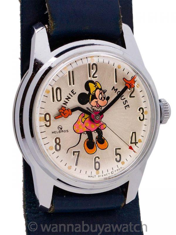 Helbros Minnie Mouse 17 Jewel circa 1970's