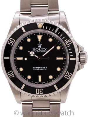 Rolex Submariner ref 14060 Patina'd Tritium circa 1991