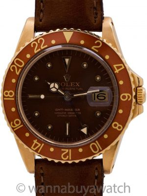 "Rolex GMT ref 1675 18K YG ""Chocolate"" circa 1967"