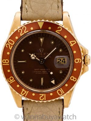 "Rolex 18K YG GMT ref 1675 ""Chocolate"" circa 1967"