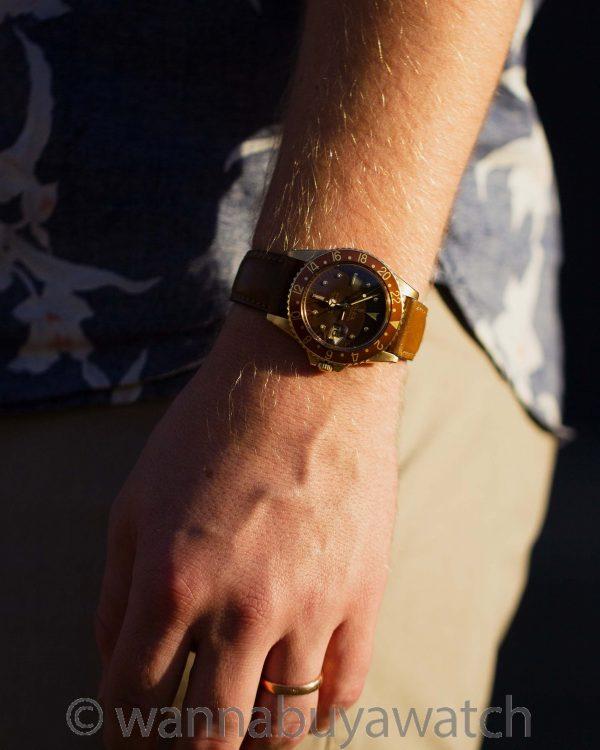 "Rolex GMT ref 1675 18K YG ""Chocolate"" circa 1967"