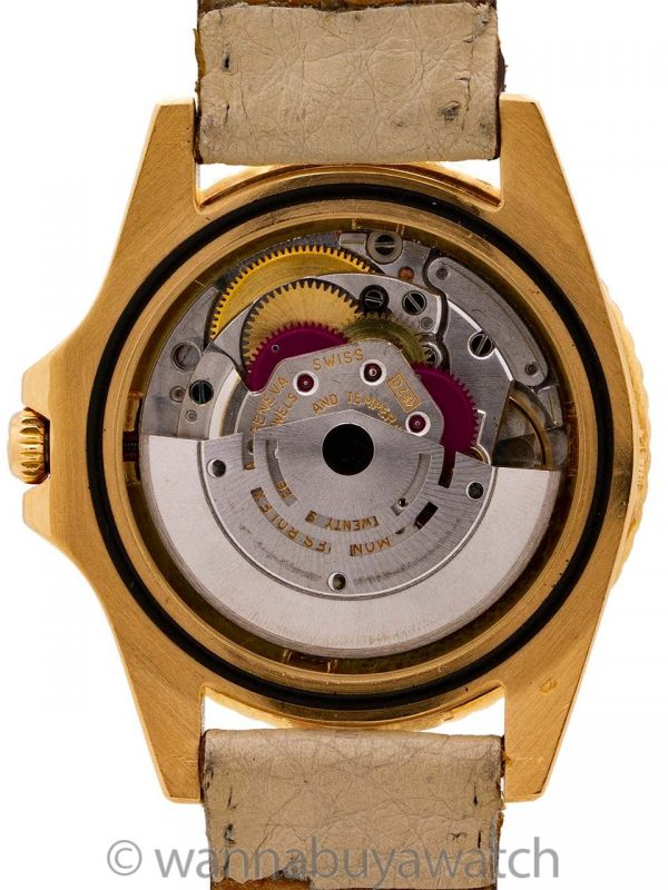 "Rolex 18K YG GMT ref 1675 ""Chocolate"" circa 1967"
