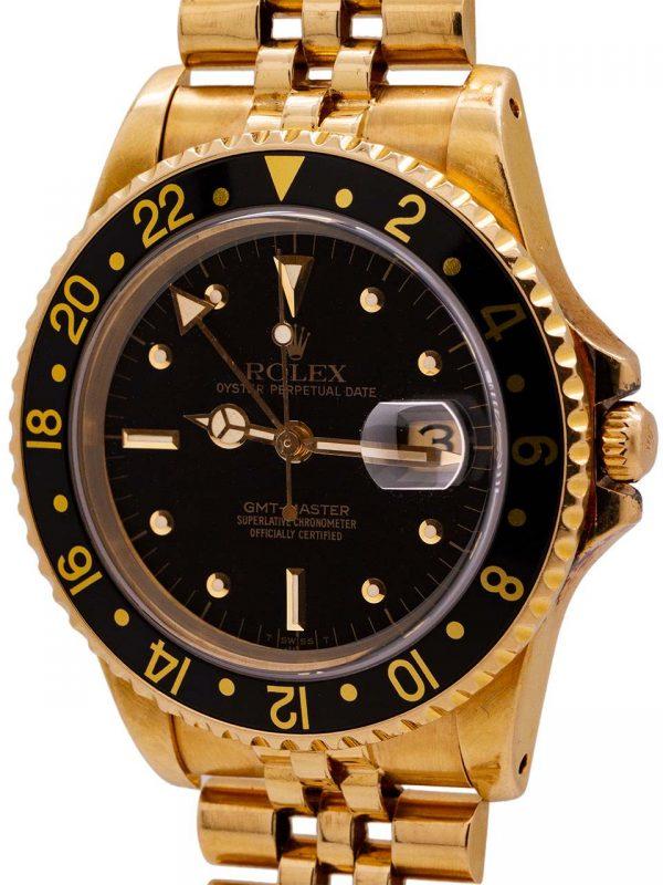 Rolex GMT ref 16758 18K YG circa 1983