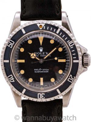 "Rolex Submariner ref 5513 Stainless Steel ""Serif"" Dial circa 1969"