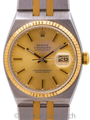 Rolex Datejust Oyster Quartz ref 17013 SS & 18K circa 2000