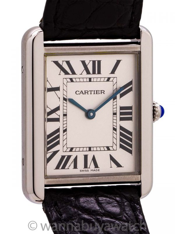 Cartier Man's Tank Solo Stainless Steel ref 3169