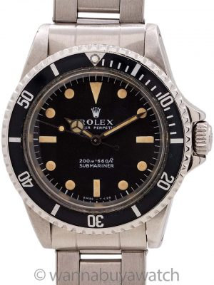 Rolex Submariner ref 5513 Meters First circa 1967