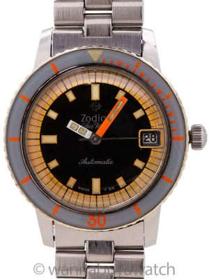 Zodiac Seawolf Automatic w/ Box & Papers circa 1960's