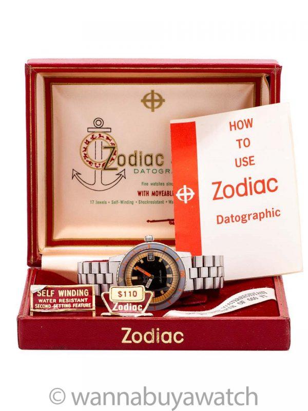 Zodiac Seawolf Automatic w/ Box & Papers circa 1960's