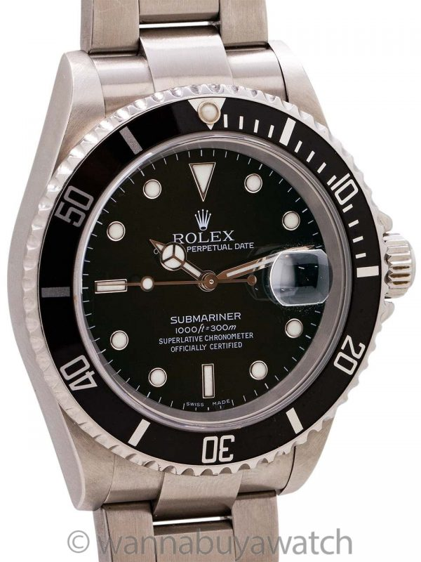 Rolex Submariner ref# 16610 Stainless Steel circa 2005