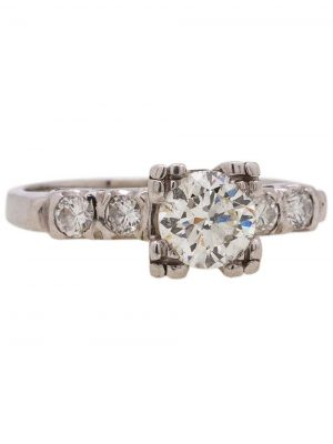 Platinum Engagement Ring 0.52ct Old European Cut I-SI2 circa 1940s