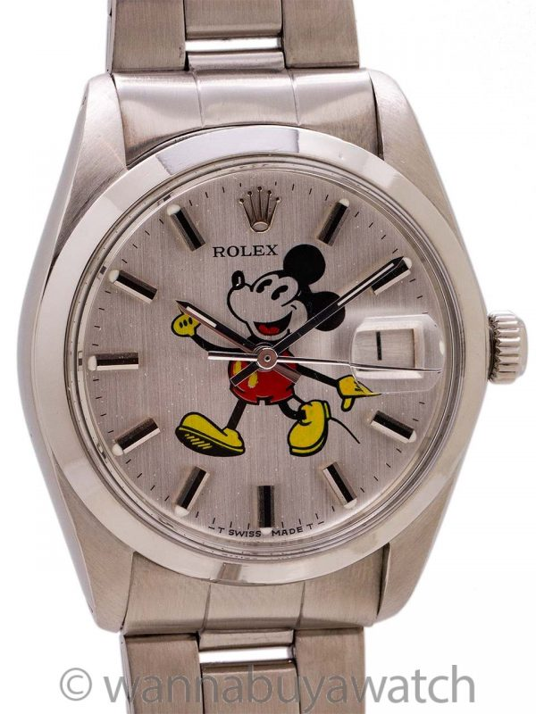 "Rolex Oyster Date Ref. 6694 ""Mickey Mouse"" circa 1977"