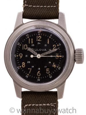 Bulova US Military Issue A17A 24 Hour Dial circa 1969