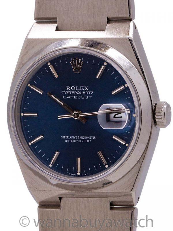 Rolex Datejust ref 17000 Stainless Steel Oyster Quartz circa 1978 B & P