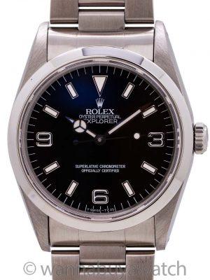 Rolex Explorer 1 ref 14270 Stainless Steel Tritium Lumes circa 1993