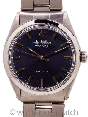Rolex SS Oyster Perpetual Airking ref 5500 circa 1969