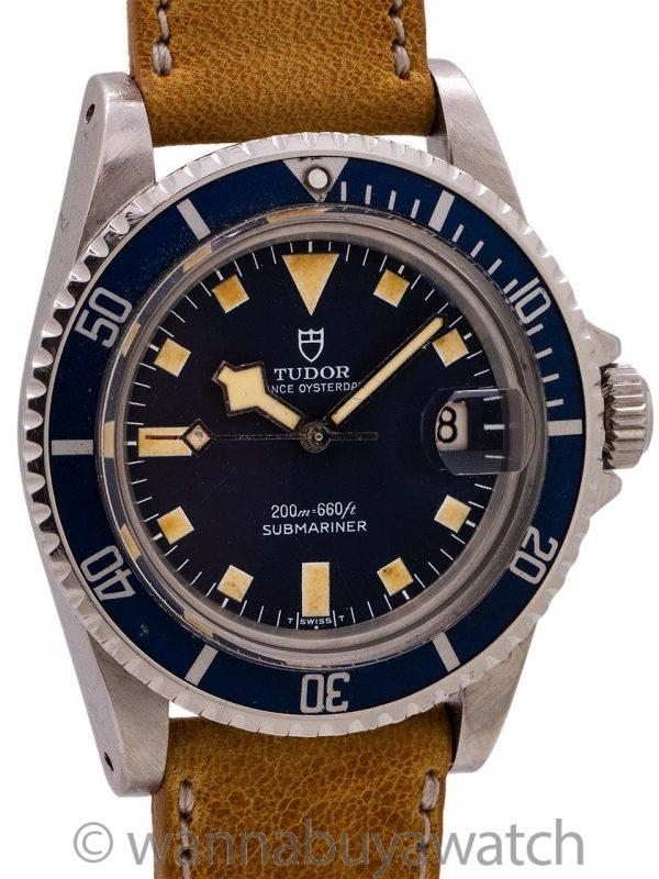 "Tudor Blue ""Snowflake"" Submariner w/ Date ref# 94110 circa 1978"
