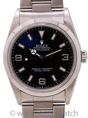 Rolex Stainless Steel Explorer 1 ref# 114270 circa 2001 w/ Papers