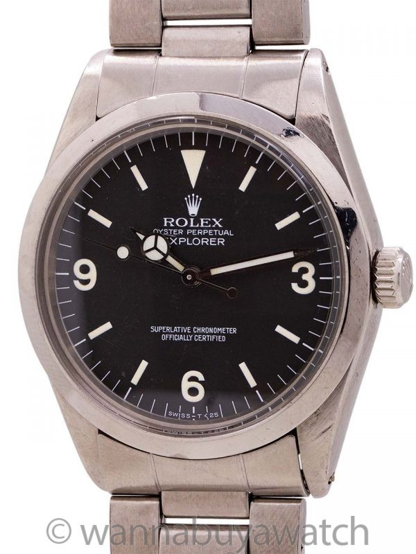 Rolex Explorer 1 ref 1016 Hack Feature w/ Hang Tag