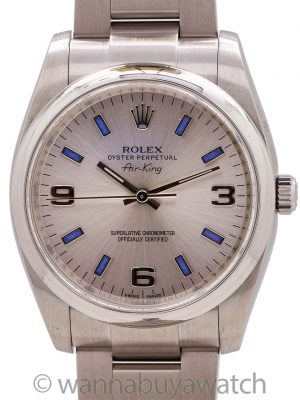 Rolex Oyster Perpetual Air King ref 114200 with Card circa 2010's