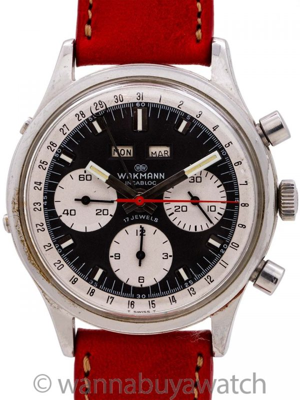 Wakmann Triple Calendar Chronograph circa 1960's